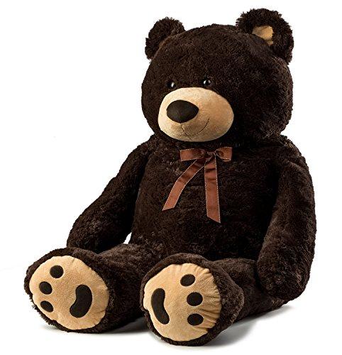 Jumbo Teddy Bear, 5 Feet Tall, Dark Brown