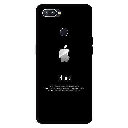 buy online 4c288 3f83f JaipurChoice Apple Logo Print Hard Case Printed Designer Back Cover for  Oppo RealMe 2 Pro (Black)
