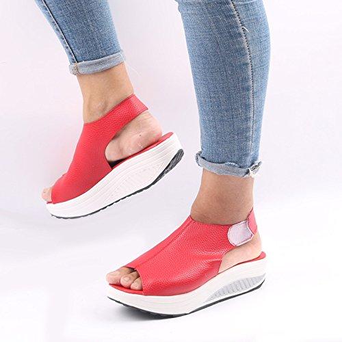 Forty de plataforma pescado de la boca de one zapatos sandalias grandes Donyyyy Código mujer impermeable qOU11v