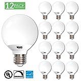 Sunco Lighting 12 Pack G25 LED Light Globe LED Light Bulb 6 Watt 40W EQ Dimmable, 5000K Kelvin Daylight, 450 Lumens, Omnidirectional Vanity Mirror Light, Energy Efficient - UL & Energy Star Listed
