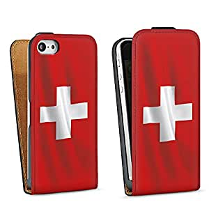 Diseño para Apple iPhone 5 DesignTasche Downflip black - Schweiz