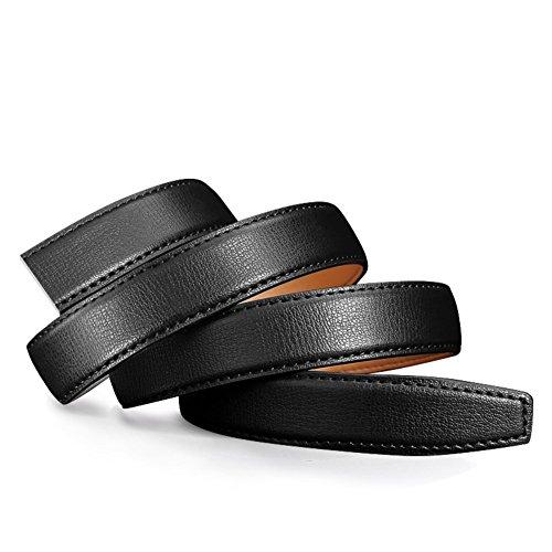 Lady without head waist lap belt No buckle simple leisure belt-black 115cm(45inch)