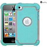 iPod 4 Case, MagicSky Shock-Absorption/Impact Resistant Bumper Slim protective Case Cover (Hard Plastic Outer + Rubber Silicone Inner) for iPod Touch 4th Generation