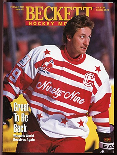 (Beckett Hockey Monthly #52 February 1995 Great to be Back Wayne Gretzky Cover VERY GOOD)