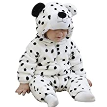Tonwhar Unisex-baby Flannel Snow Leopard Costume Outfits Suit