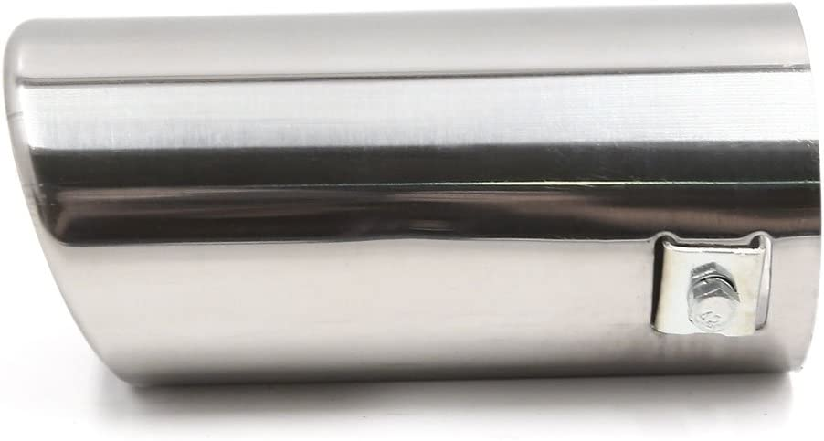 uxcell 64mm Inlet Dia Stainless Steel Automotive Muffler Tail Pipe for Toyota Yaris