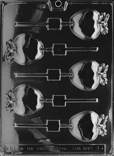 Cybrtrayd Life of the Party F001 Apple Lolly Fruit Chocolate Candy Mold in Sealed Protective Poly Bag Imprinted with Copyrighted Cybrtrayd Molding Instructions