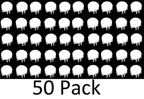 Wire Cube Plastic Connectors snap mesh organizer grid (50, White)