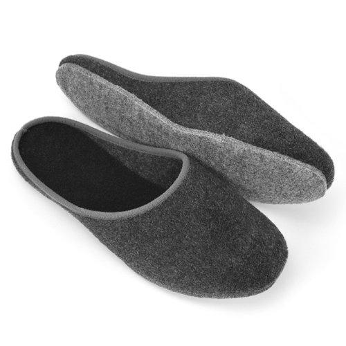 """Zapatillas de fieltro sentían únicos """"versión ligera"""" diferentes tamaños antracita"""