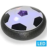 Air Powered Electric Soccer Football Disc Ball Toy WithLED Lights For Indoors...