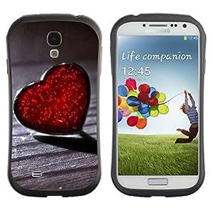 "Hypernova Slim Fit Dual Barniz Protector Caso Case Funda Para SAMSUNG Galaxy S4 IV / i9500 / i9515 / i9505G / SGH-i337 [Lonely Heart Corazones Rojos""]"