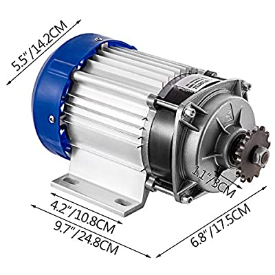 BestEquip Electric Tricycle Motor 750W 60V Brushless Motor 700RPM Gear Reduction 16A Motor Reduction Ratio 6:1 with 12 Tooth Gear for DIY Tricycle E-Bikes Electric Scooters : Sports & Outdoors