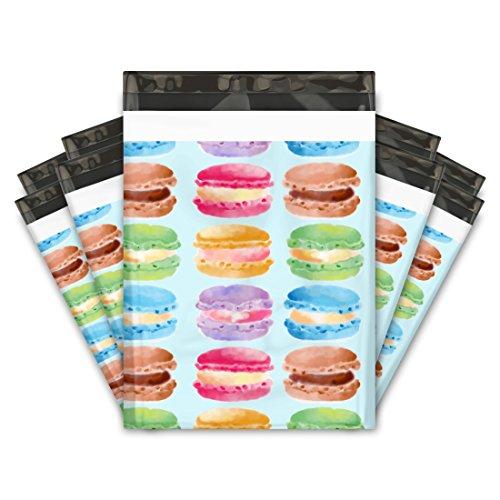 10x13 (100) Sweet Macaron Designer Poly Mailers Shipping Envelopes Premium Printed Bags