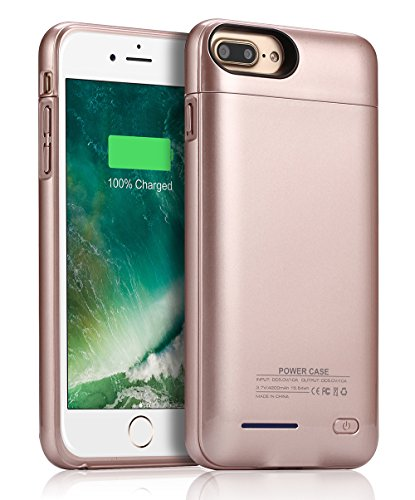 Phone 8 Plus/7 Plus Battery Case/JUBOTY 4200mAh Rechargeable Protective Portable Charging Case for iPhone 8 Plus 7 Plus Juice Power Bank Battery Charger(Production Date 2018)