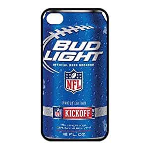 US Beer Bud Light Waterproof Rubber(TPU) Apple iPhone 4 4s Case Cover,Top iPhone 4 4s Case from Good luck to
