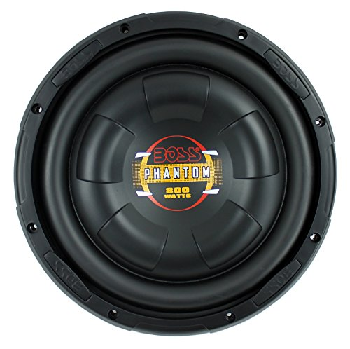 w Slim Car Audio Subwoofer Power Sub Woofer Flat D10F ()
