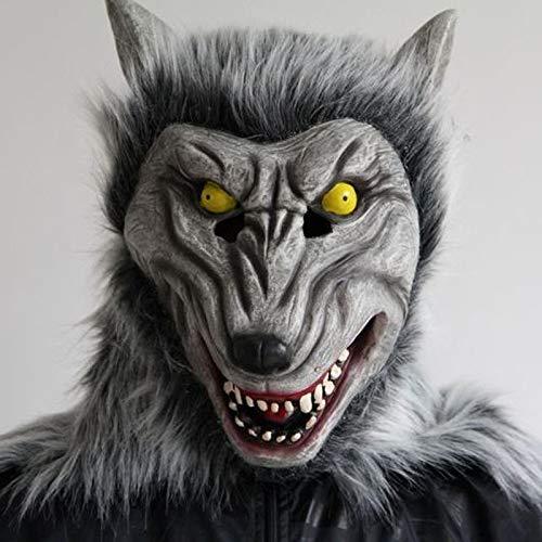 1 Pack, New wolf mask werewolf mask cosplay animal head halloween costume zombi mask horror werewolf creepy crawly dracula mask