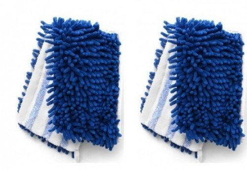 Synonymous Dual-Action Microfiber Mop Refill Compatible with O Cedar Flip Mop & 18 inch Dust Mops Refill 2 Pack