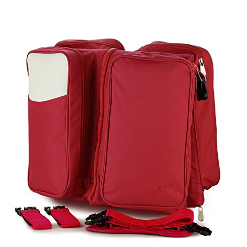 DOXUNGO Baby Diaper Bag Portable Baby Bed Baby Change Station Travel Crib (red) by DOXUNGO