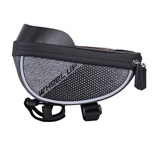 WHEEL UP Bike Frame Bag, waterproofBicycle Top Tube Bag Cell Phone Bag Waterproof Bicycle Top Tube Bag Cell Phone Bag Sensitive Touch Screen by Dressffe (Black)
