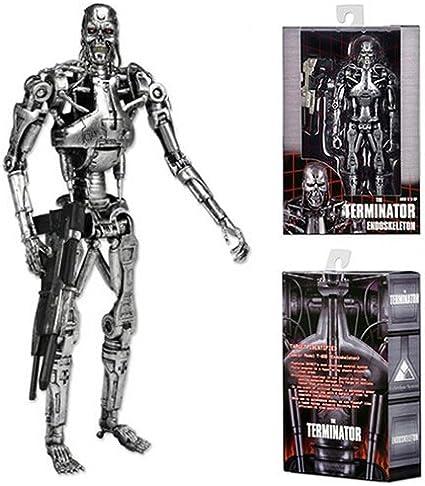 "NECA Terminator T-800 Endoskeleton Action Figure Arnold Schwarzenegger 7/"" Model"