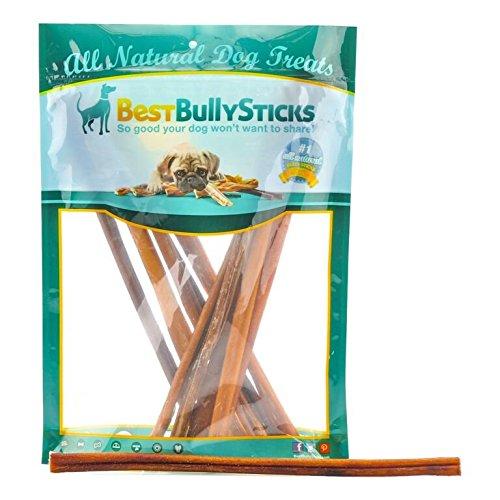 Best Bully Sticks Premium 12-inch Thin Bully Sticks, All-Natural, Free-Range, Grass-Fed Beef Dog Treat Chews, 12...