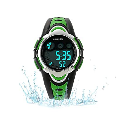 Kids Sport Watch Outdoor LED Sport Waterproof Electronic Quartz Watches for Boy Girls Kids by Misskt