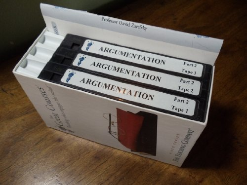 The Great Courses, Teaching that engages the mind, Argumentation: The Study of Effective Reasoning Part II, Set of 3 VHS Tapes. Video Series, The Teaching - Teaching Tape
