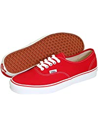 Mens Authentic Core Classic Sneakers (Red Canvas)