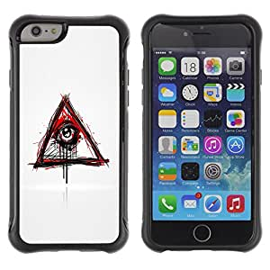 Be-Star único patrón Impacto Shock - Absorción y Anti-Arañazos Funda Carcasa Case Bumper Para Apple iPhone 6(4.7 inches) ( Evil Bleeding Eye Illuminati )