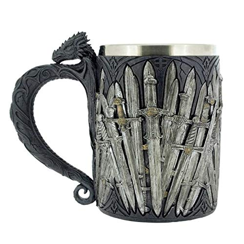 (Game of Thrones Dragon Iron Sword Coffee Mugs Stainless Steel Resin Cups and Mugs Creative Drinkware Mark)