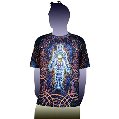 Alex Grey T-shirts (Body and Mind Visionary Art Alex Grey T-Shirt | Crystal Tara - CT71-46 (Medium))