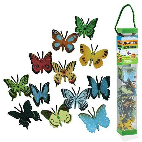 WowToyz Animal Explorer - Butterflies Tube Playset - 24 Piece