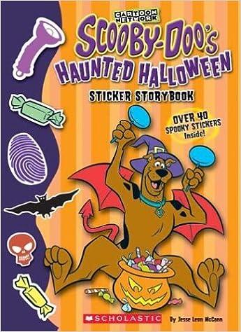 scooby doo halloween sticker storybook jesse leon mccann duendes del sur 9780439606998 amazoncom books