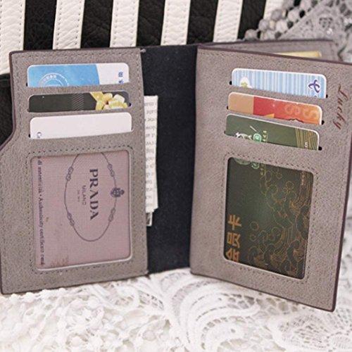 Geldbörse DDLBiz® Frauen Mini Bifold Leder Geldbörse Card Inhaber Geldbörse (Lila) Pink bGIr8QW