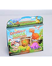 Dinosaur World Reusable Magic Coloring Books With Water Pen