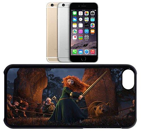 Cas de l'iPhone 6. Plastique noir avec High Gloss Imprime Inserer - Disneys Brave