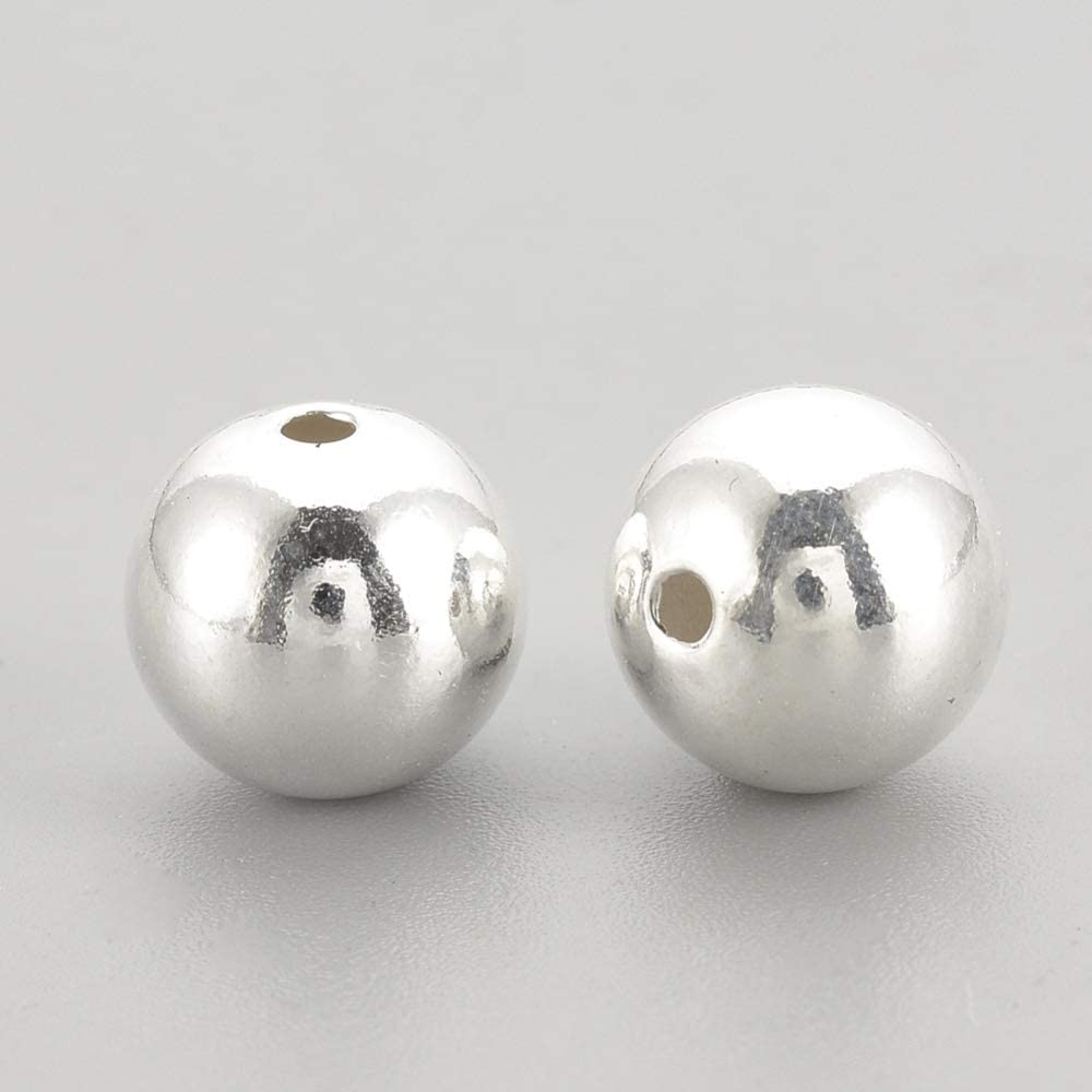 100*Genuine 925 Silver Round Ball Beads for Jewelry Making Findings 3MM