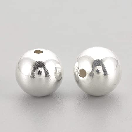 20pcs sterling silver spacer bead 5mm 925 ball spacer silver spacer bead sterling silver round ball spacer sterling spacer bead