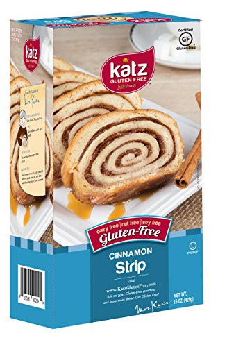 [Katz Gluten Free Cinnamon Strip, 15 Ounce, Certified Gluten Free - Kosher - Dairy, Soy, & Nut free - (Pack of] (Milk Eggs Cheese Costume)