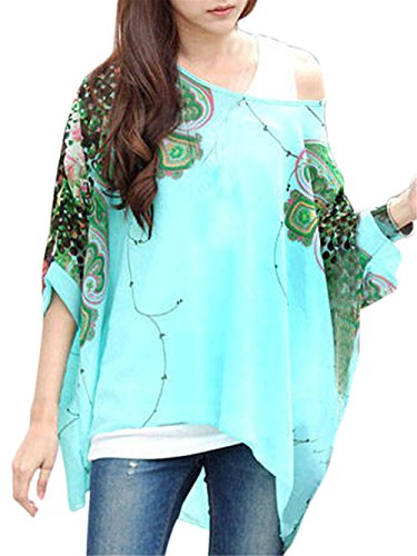 Womens Floral Batwing Sleeve Blouse product image