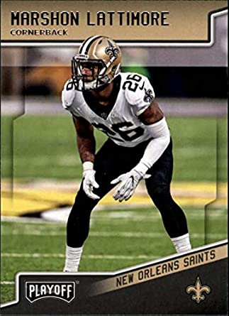 2018 Playoff Football  136 Marshon Lattimore New Orleans Saints Official  NFL Trading Card made by 2b89bb42d