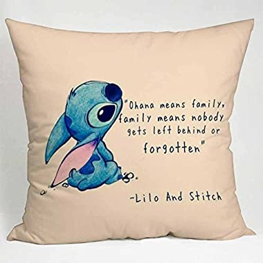 Disney Lilo and Stitch Quote Pillow Case (16x16 two sides)