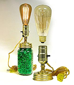 Mason Jar Lamp Kit With Pre-Wired Socket Includes an Antique Style Edison  Bulb