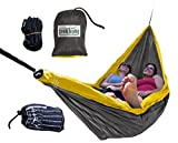 Trek Light Gear Double Camping Hammock With Hanging Kit – Lightweight Nylon Portable Hammock - Best Parachute Nylon Hammock For Backpacking Hiking & Travel - Two Trees Planted