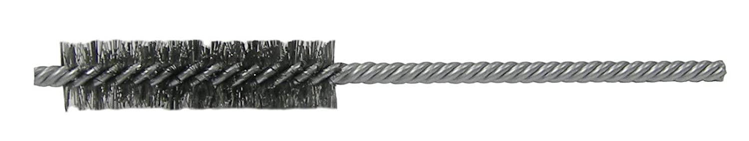 Weiler 21117 Power Tube Brush Double Stem//Double Spiral Pack of 10 1//2 2 Length 0.06 Stainless Steel Wire Fill Weiler Corporation Pack of 10 1//2 0.06 Stainless Steel Wire Fill 2 Length