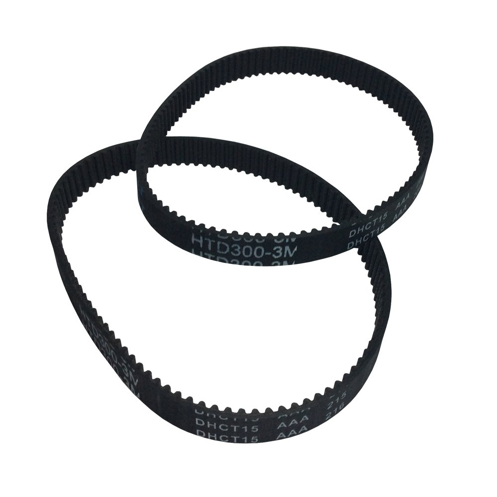 BEMONOC Pack of 2pcs HTD 3M Round Rubber Timing Belts Closed-Loop 249mm Length 83 Teeth 10mm Width Industrial Drive Belts