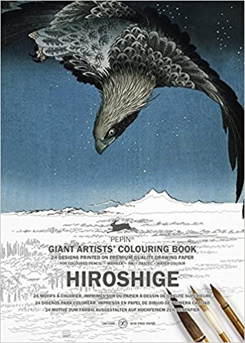 hiroshige giant artists colouring books english and german edition