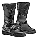 Sidi Deep Rain Motorcycle Boot, Black, Size 45 by Sidi