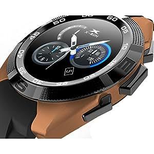 LKM Security LKM-OSG5GO - Reloj Inteligente Smartwatch con Bluetooth, con función de pulsómetro, podómetro, Dorado, Moderno: Amazon.es: Bricolaje y ...